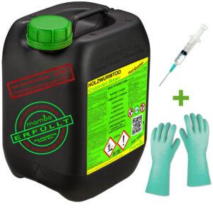 mamba Holzwurmtod CombiStar - 5 Liter + Spritze + Handschuhe