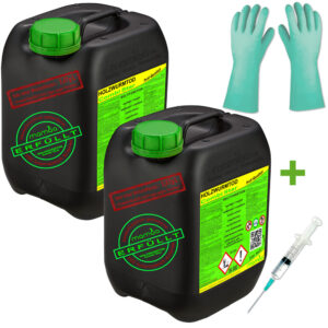 mamba Holzwurmtod CombiStar - 2x5 Liter + Spritze + Handschuhe