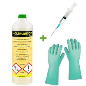 mamba Holzwurmtod HWT - 0,5 Liter + Spritze + Handschuhe