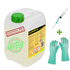 mamba Holzwurmtod HWT - 2,5 Liter + Spritze + Handschuhe