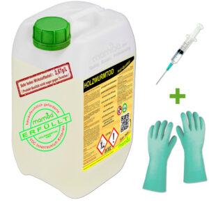 mamba Holzwurmtod HWT - 3 Liter + Spritze + Handschuhe